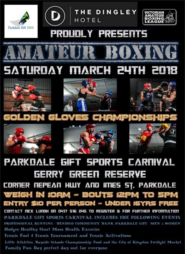 Dingley Hotel Golden Gloves Poster parkdale Gift